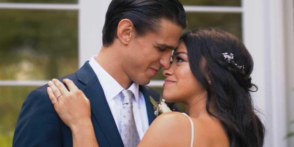 Resultado de imagen de Gina Rodriguez y Joe LoCicero wedding