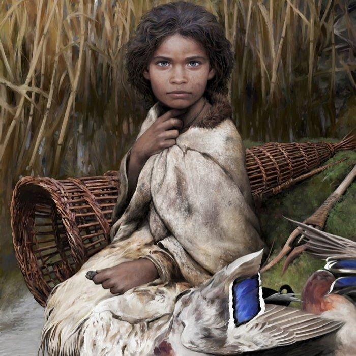 6천 년 전 '씹던 껌'에서 발견된 DNA로 복원시킨 '석기시대 여성' 얼굴