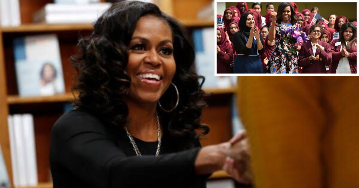 2 8.png?resize=1200,630 - Michelle Obama to Donate $500K from Blockbuster Memoir to Support Girls' Education