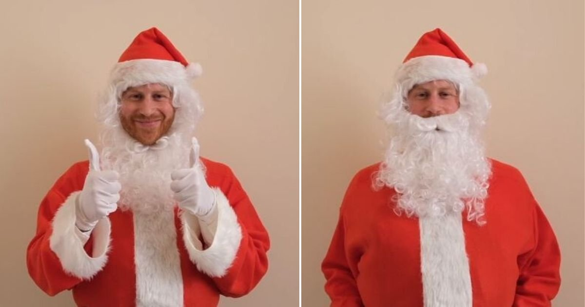 3 161.jpg?resize=1200,630 - Prince Harry Dressed Up As a Santa and Recording a Cute Charity Message About Losing a Parent