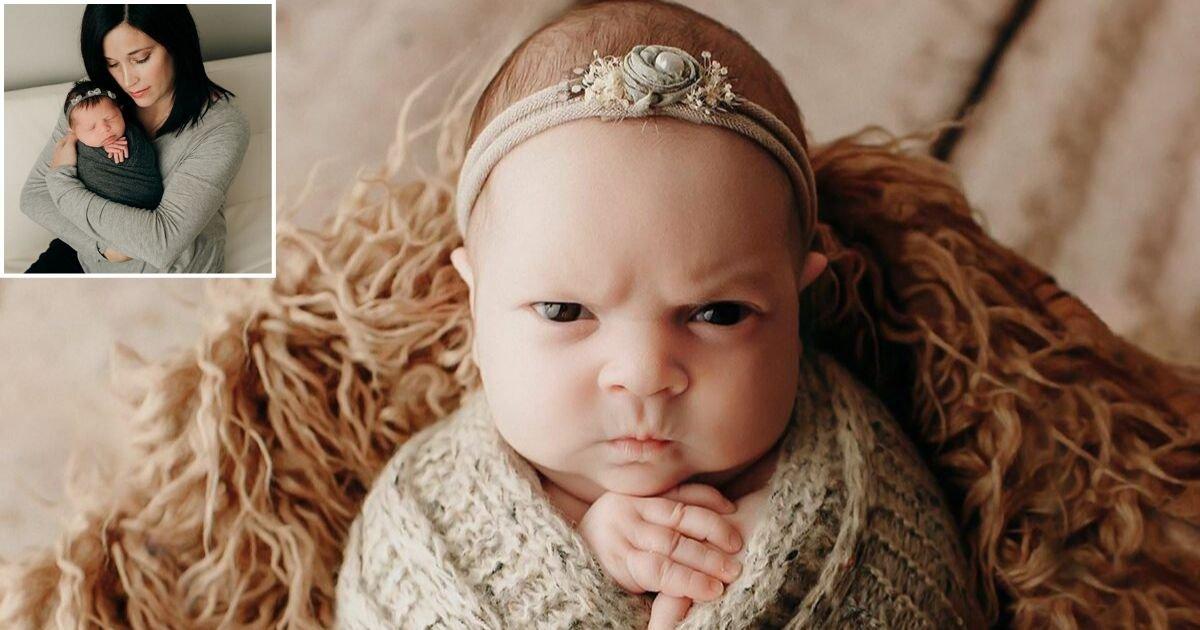 3 178.jpg?resize=412,232 - Ce bébé ne semble pas apprécier sa séance photo, et elle le fait savoir !
