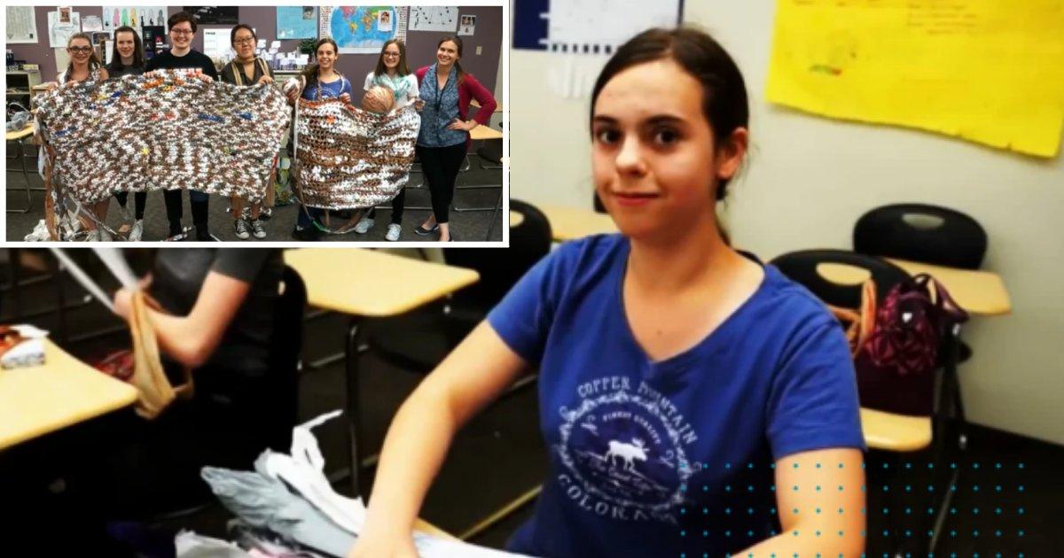 3 70.png?resize=412,232 - Des lycéens créent des couvertures pour les sans-abris en recyclant des sacs plastiques