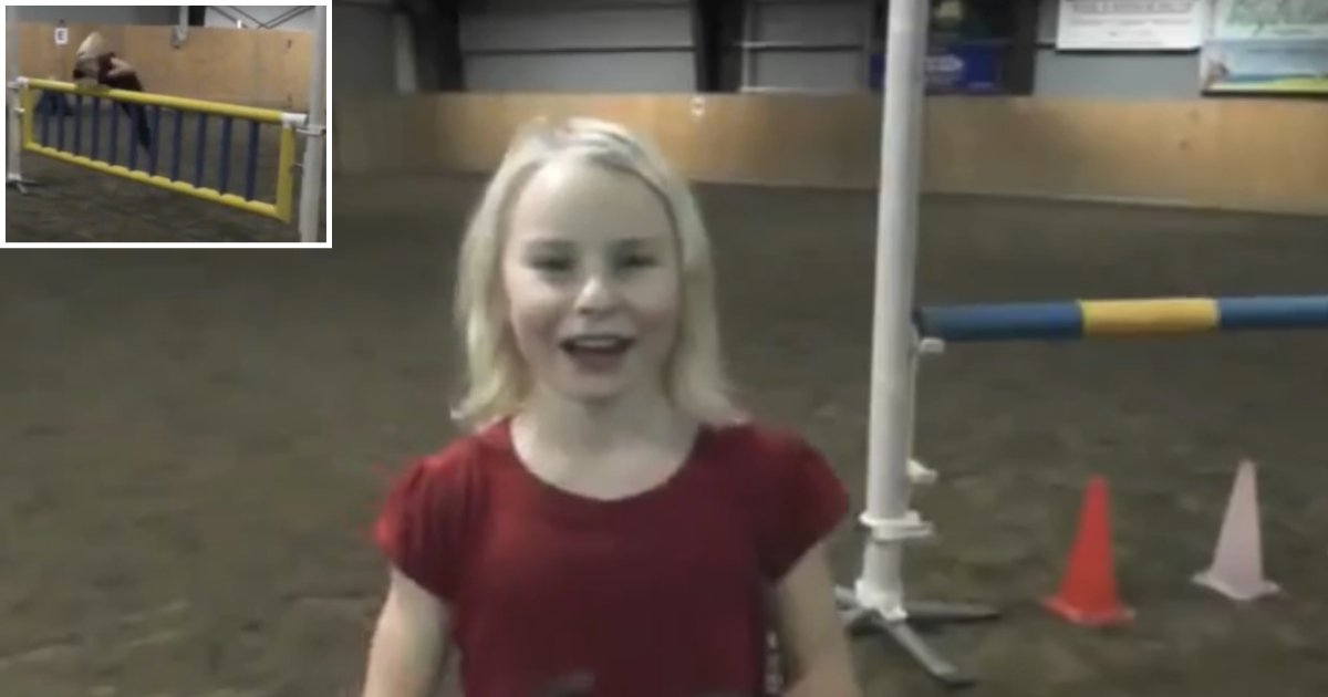 6 49.png?resize=1200,630 - 11 Year Old Girl Jumps On All 4 of Her Limbs Just Like A Horse