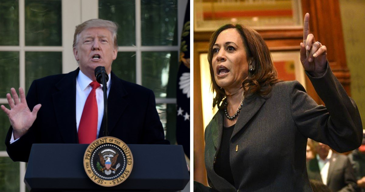"""a 17.jpg?resize=412,232 - Trump Tweeted """"Too Bad. We Will Miss You Kamala!"""" After She Dropped Out Of 2020 Presidential Race"""