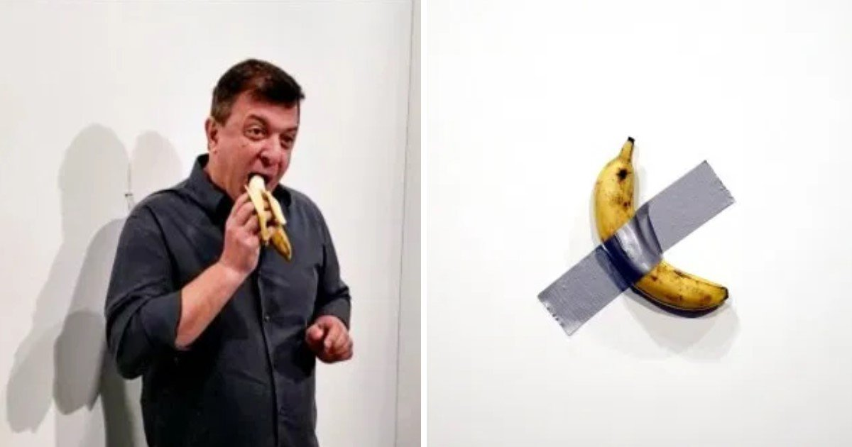 a 34.jpg?resize=1200,630 - A Man Ate A $120,000 Banana After Pulling It Off The Gallery Wall