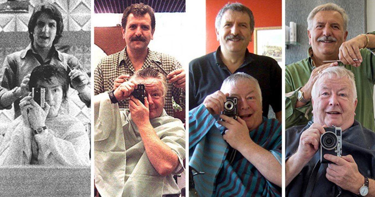 a 90.jpg?resize=412,232 - Depuis 40 ans, cet homme a pour tradition de faire un selfie avec son coiffeur