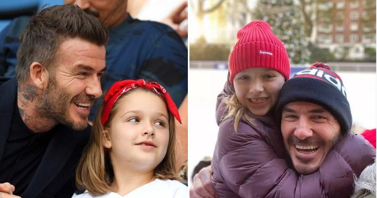 beckham6.png?resize=412,232 - David Beckham a partagé une autre photo de lui embrassant sa fille sur les lèvres malgré les critiques de l'année dernière