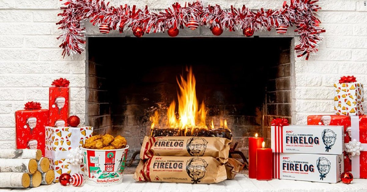 c3 6.jpg?resize=412,232 - Spice Up Your Christmas Fireplace With Chicken-Scented Fire Logs From KFC