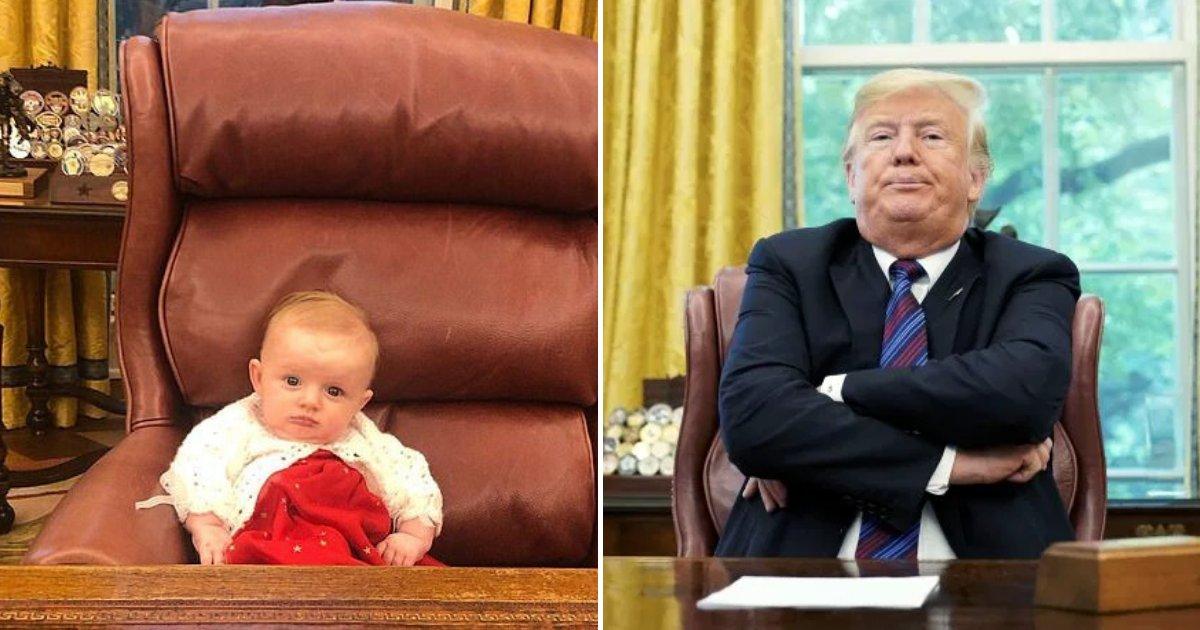 carolina5.png?resize=300,169 - La dernière petite-fille du président Donald Trump a rendu visite à son grand-père dans le bureau ovale
