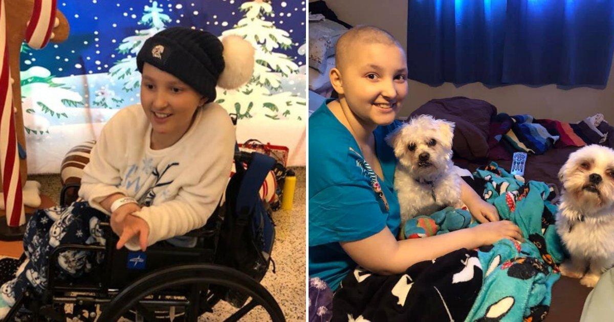 chloe6.png?resize=412,232 - Une jeune adolescente a réussi à vaincre un cancer de stade 4 juste à temps pour Noël