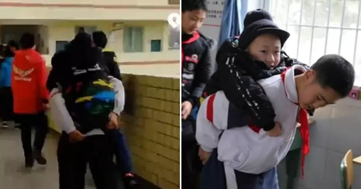friend5.png?resize=300,169 - 12-Year-Old Boy Carries His Friend With Disability To School Every Day For 6 Years
