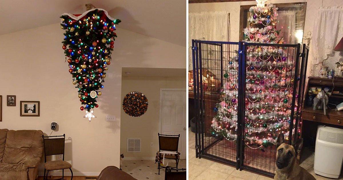 genius ideas christmas tree.jpg?resize=1200,630 - Genius Ideas To Keep Your Christmas Trees And Decorations Safe This Christmas