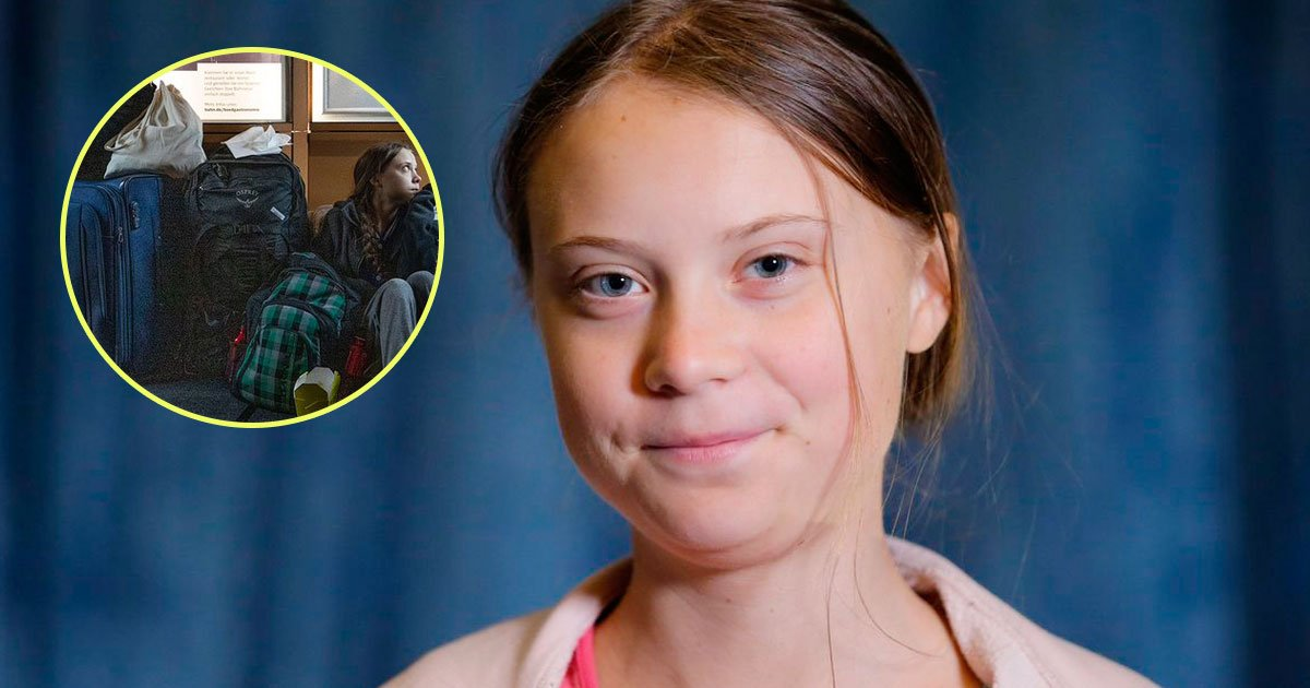 greta thunberg sitting on floor train.jpg?resize=1200,630 - Greta Thunberg Sparked Controversy After Sharing a Picture of Herself Sitting on the Floor of a Busy Train