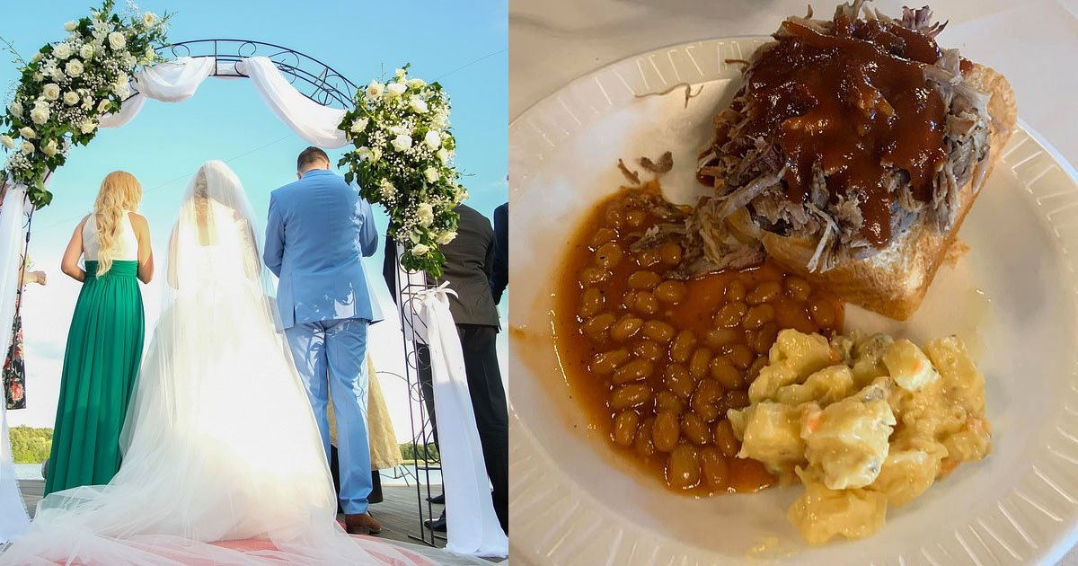 guests left upset after being served baked beans and potato salad at a wedding ceremony.jpg?resize=412,275 - Guests Left Upset After Being Served Baked Beans And Potato Salad At A Wedding Ceremony
