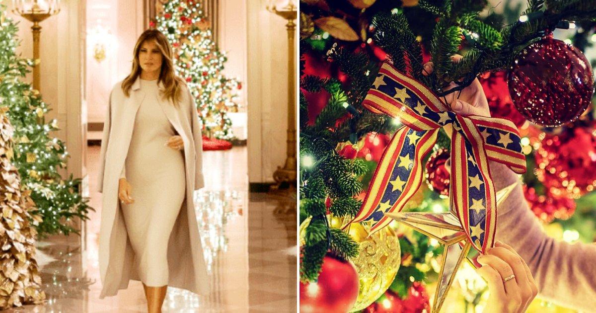 melania7.png?resize=412,232 - Melania Trump Unveiled 'Patriotic' Christmas Decor Inside The White House