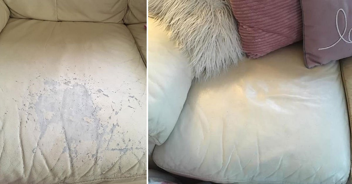 revamped sofa diy trick.jpg?resize=412,232 - Woman Revamped Her Ten-Year-Old Leather Sofa For Just £10 Using A Clever DIY Trick