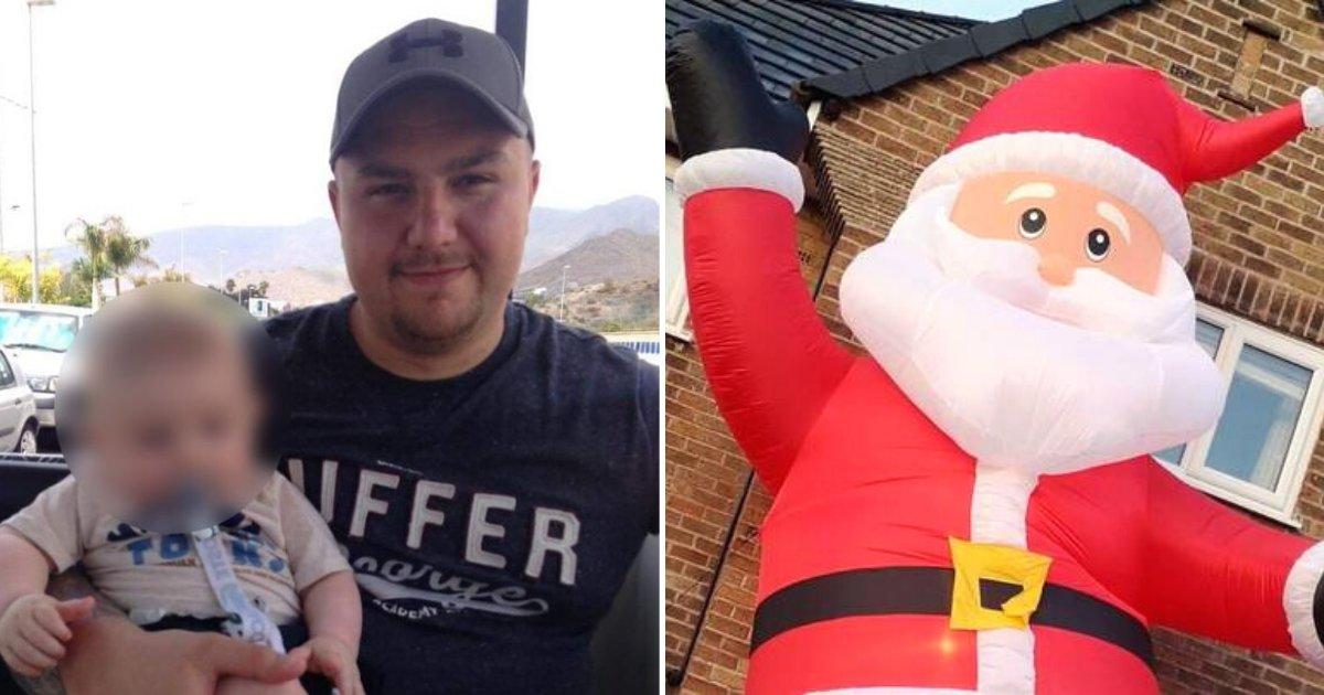 santa5.png?resize=412,275 - Un papa a accidentellement commandé un père Noël gonflable de la taille de sa maison