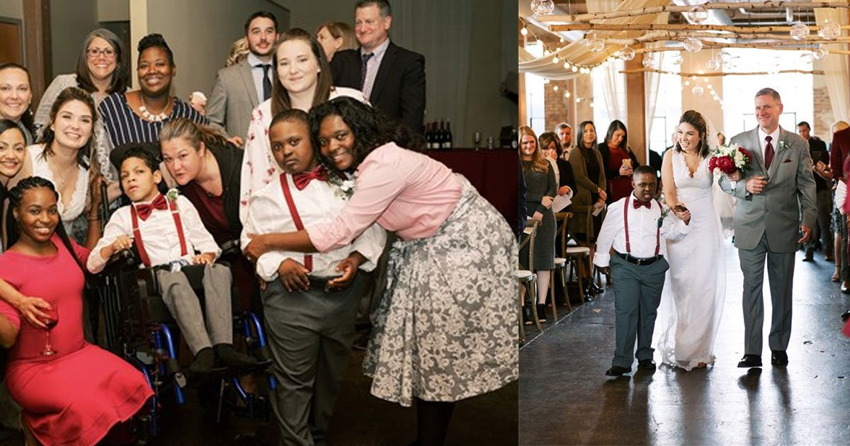 teacher invited her three students with disabilities to walk her down the aisle at her wedding.jpg?resize=412,232 - Special Education Teacher Invited Her Students To Walk Her Down The Aisle At Her Wedding