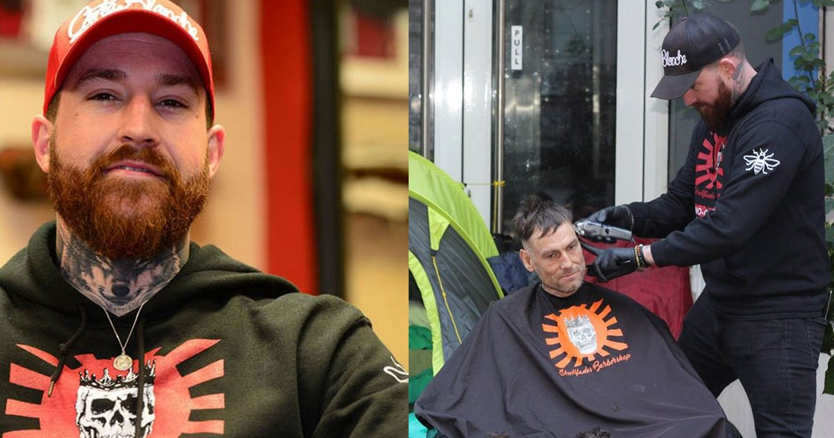 this ex soldier gives free haircuts to homeless people and trains them to work in his shop.jpg?resize=412,232 - A Man Gives Free Haircuts To Homeless People And Trains Them To Work In His Shop