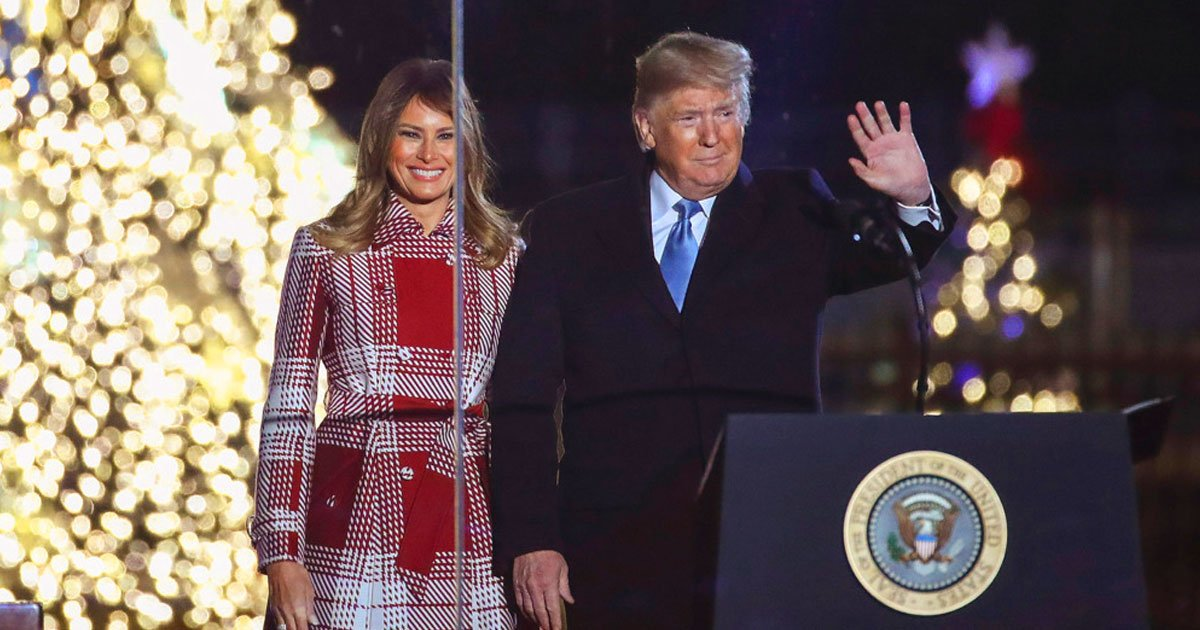 trump christmas tree lightning.jpg?resize=412,232 - President Donald Trump Delivered A Powerful Speech At The National Christmas Tree Lighting Ceremony