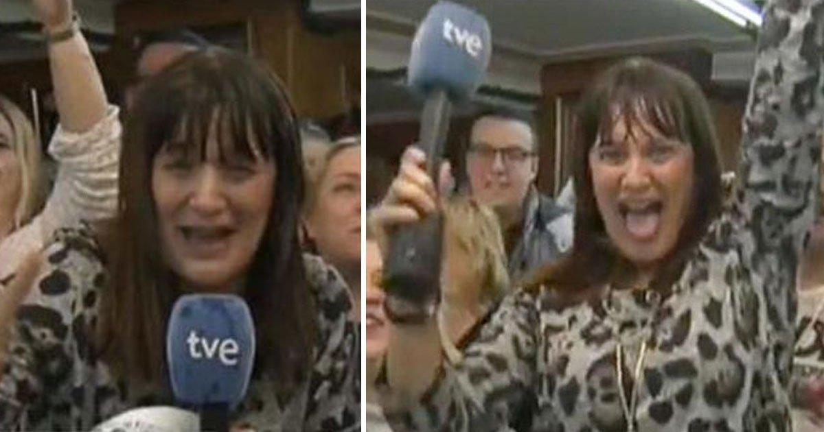 tv reporter quit job winning lottery.jpg?resize=412,232 - Une journaliste de télévision quitte son emploi à l'antenne après avoir remporté une loterie, mais s'excuse après avoir appris que le prix n'était que de 5 000 €