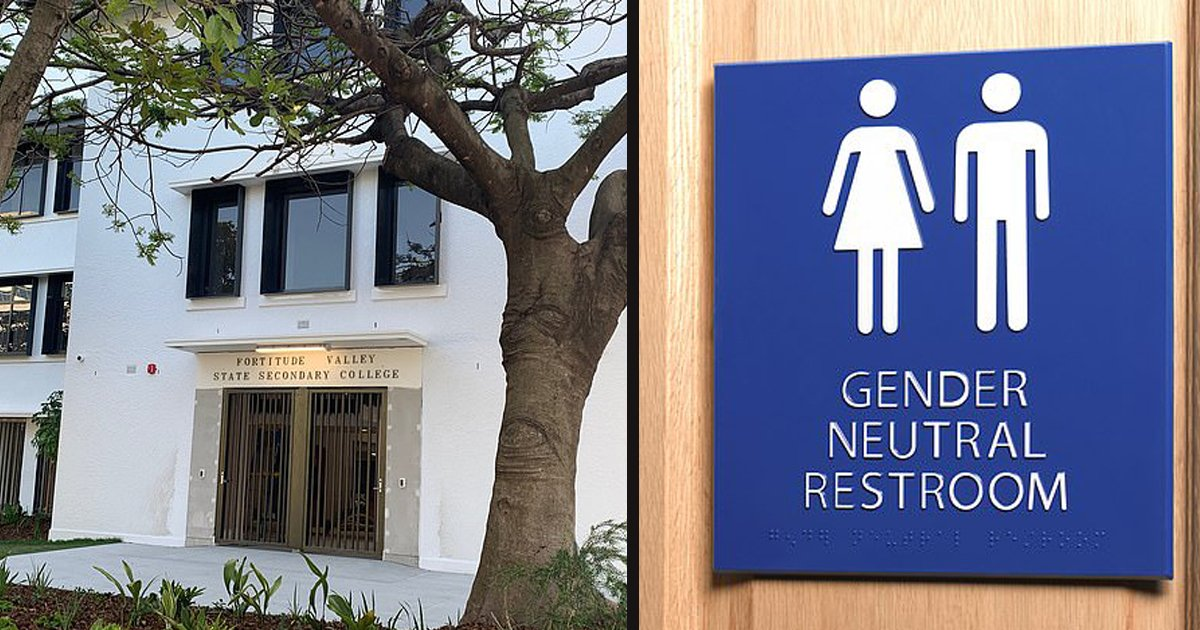 untitled 1 28.jpg?resize=412,232 - Gender-Neutral Bathrooms At A New High School Caused Outrage From Experts And Parents