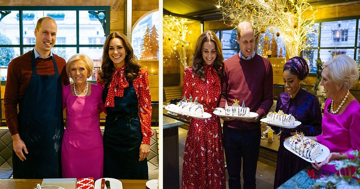 untitled 1.jpg?resize=1200,630 - Prince William And Kate Middleton Joined Hands With The Queen Of Cakes - For The Festive Food-Themed BBC Special