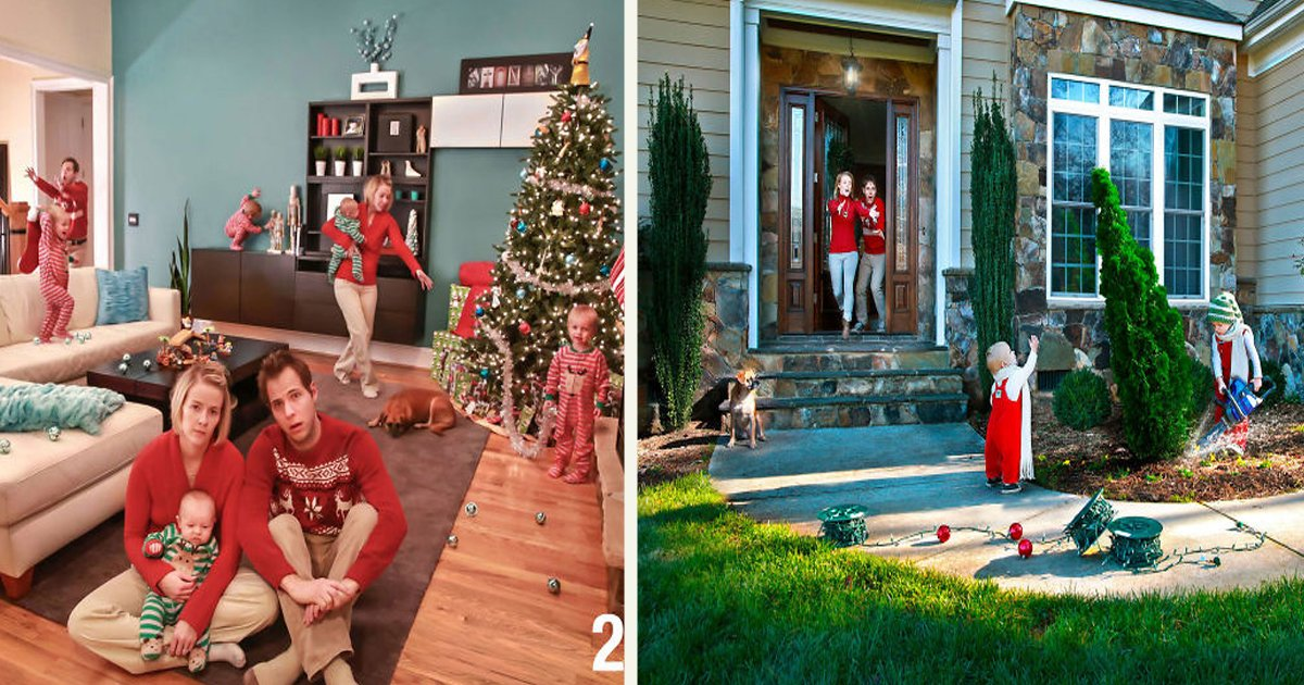 untitled 2 3.jpg?resize=1200,630 - This Family Opted Out On 'Traditional' Christmas Cards For 'Real Life' Ones