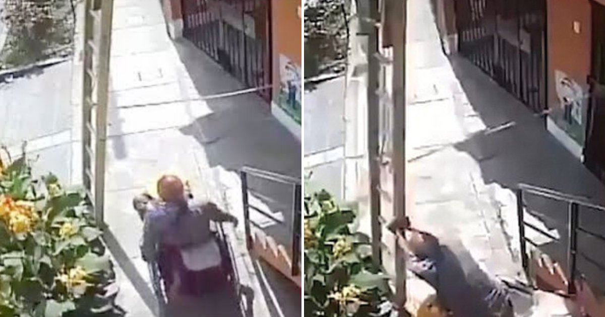 untitled design 34 2.png?resize=412,232 - Angry Man In Wheelchair Knocked A Worker Off The Ladder After His Path Was Blocked