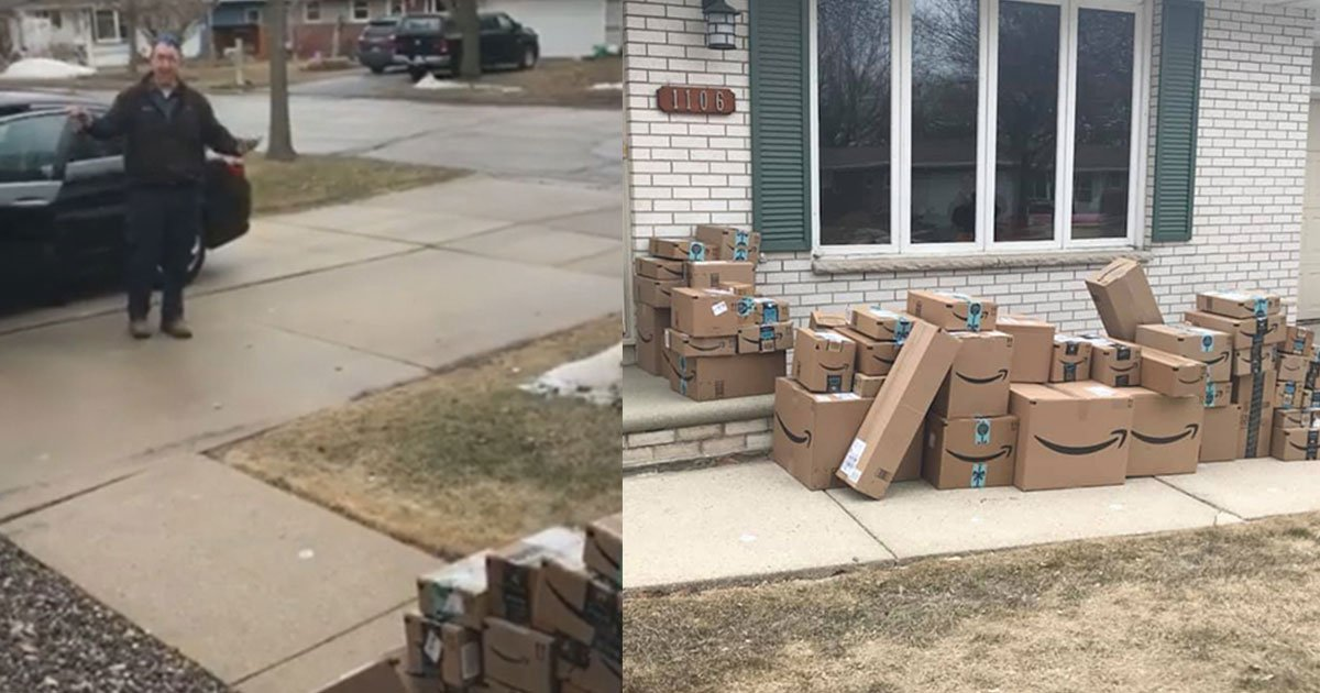 woman saved amazon boxes to prank her husband and his reaction is hilarious.jpg?resize=1200,630 - A Woman Saved Amazon Boxes For Six Months To Trick Her Husband