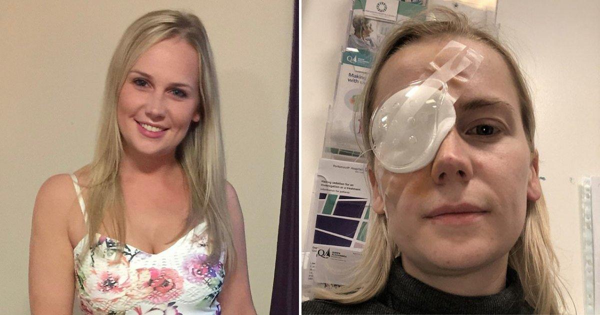 1 153.jpg?resize=1200,630 - Mujer De 27 Años Despertó Ciega Después De Pensar Que Solo Tenía Una Lagaña En El Ojo