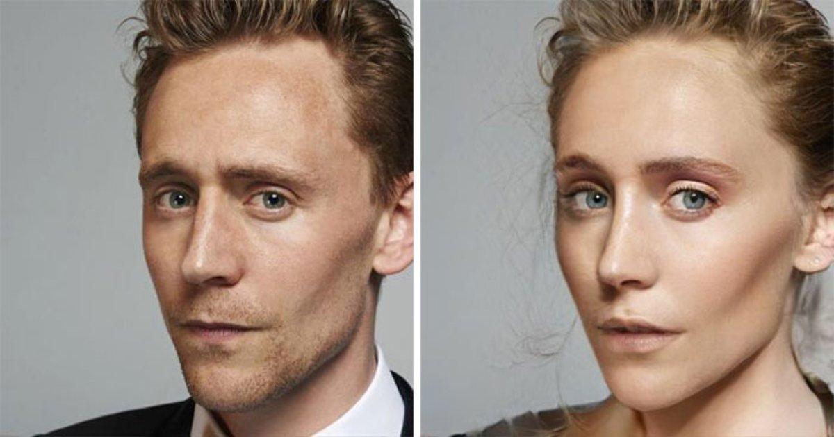 1 276.jpg?resize=1200,630 - Convirtieron A Los Actores De Marvel En Mujeres, Y Notamos Que Tom Hiddleston Podría Haber Sido La Hermana Gemela De Elizabeth Olsen