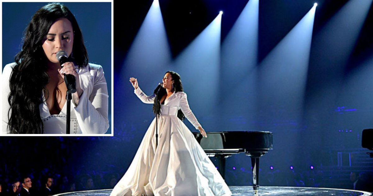 1 77.png?resize=1200,630 - Demi Lovato Got A Standing Ovation On Her Live Performance at the Grammy Awards