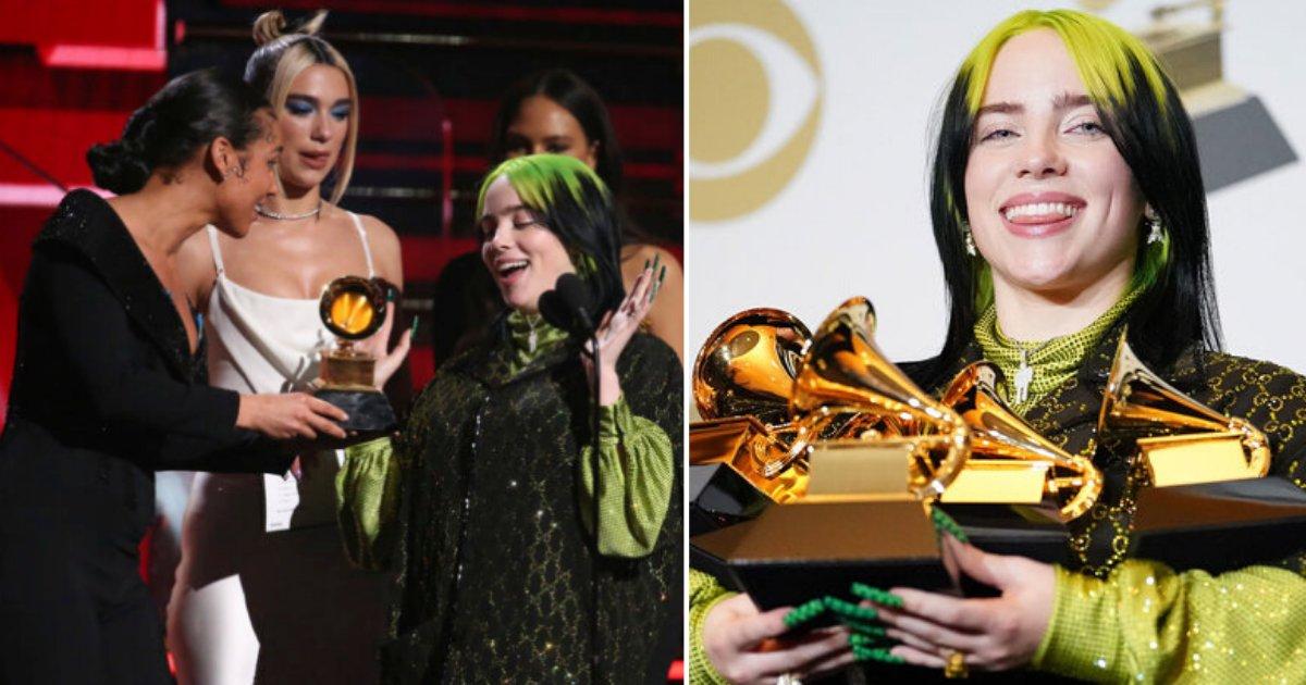 12 6.png?resize=1200,630 - 'Bad Guy' Singer Billie Eilish Took Home 4 Grammy Awards