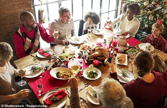 An anonymous woman, believed to be from the UK, took to Mumsnet to express her anger after her sister changed £100 per family for Christmas dinner - without alcohol. Pictured, stock image