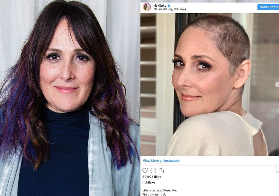 Ricki Lake reveals shaved head after opening up about hair loss (Getty)