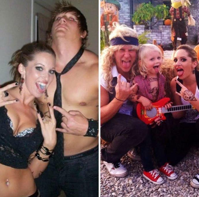 20 Divertidas imágenes que muestran la transformación de personas antes y después de tener hijos