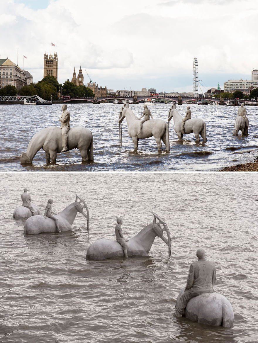 The Rising Tide By Jason Decaires Taylor, London