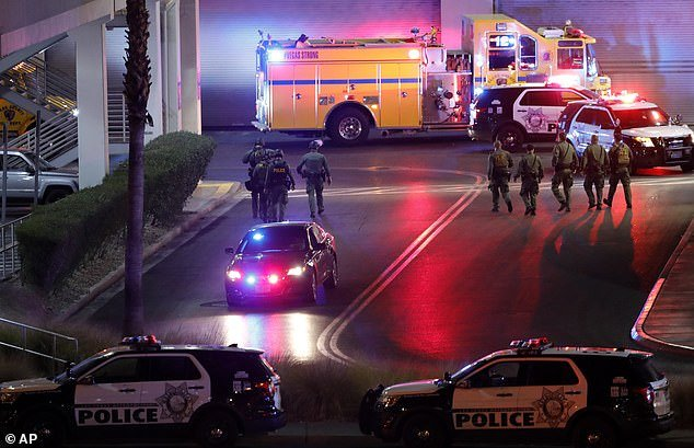 The shooting happened at Fashion Show Mall in Las Vegas on Tuesday after group of young people reportedly got into an argument and one person pulled out a gun before firing it into a crowd