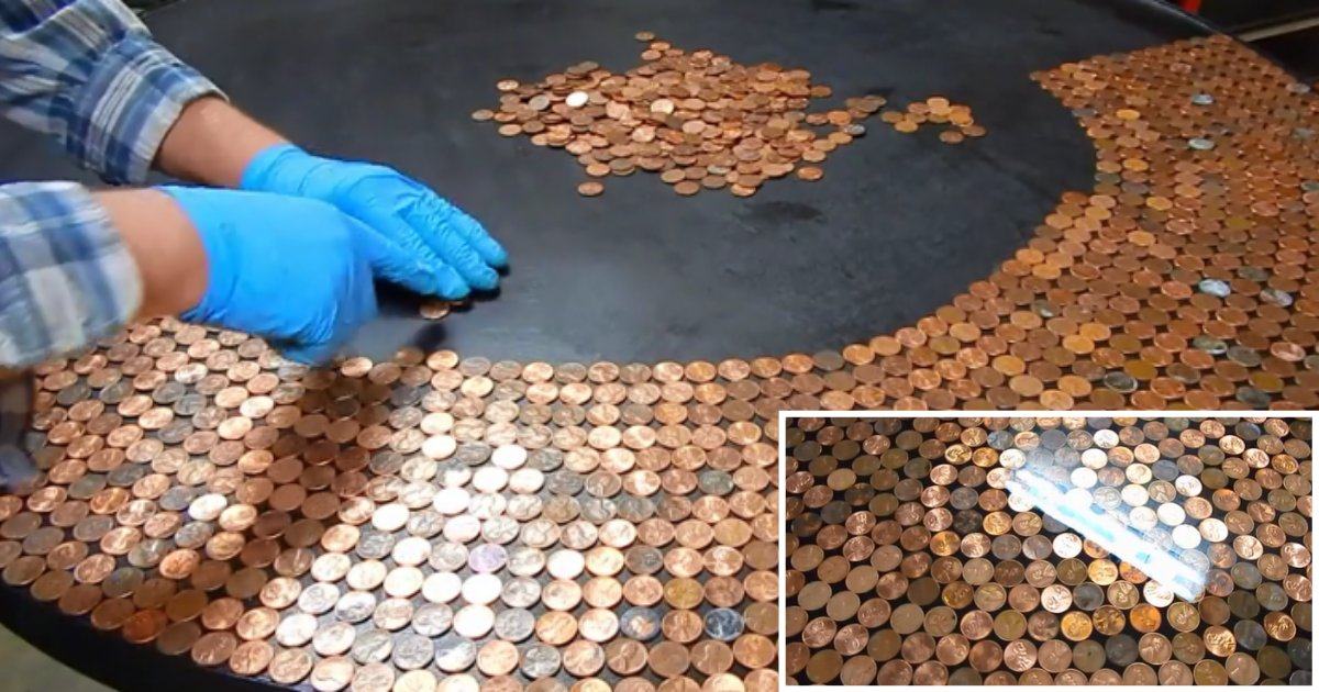 2 9.png?resize=1200,630 - How A Stunning Penny Table Top Is Made