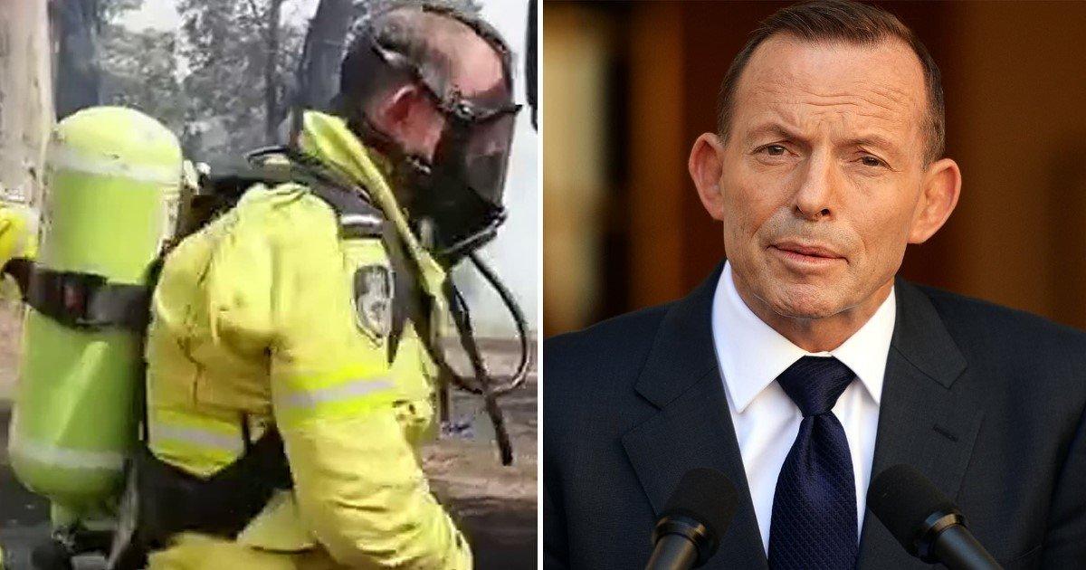 3 37.jpg?resize=1200,630 - Former Prime Minister Of Australia, Tony Abbot, Praised For Volunteering For Fire Service