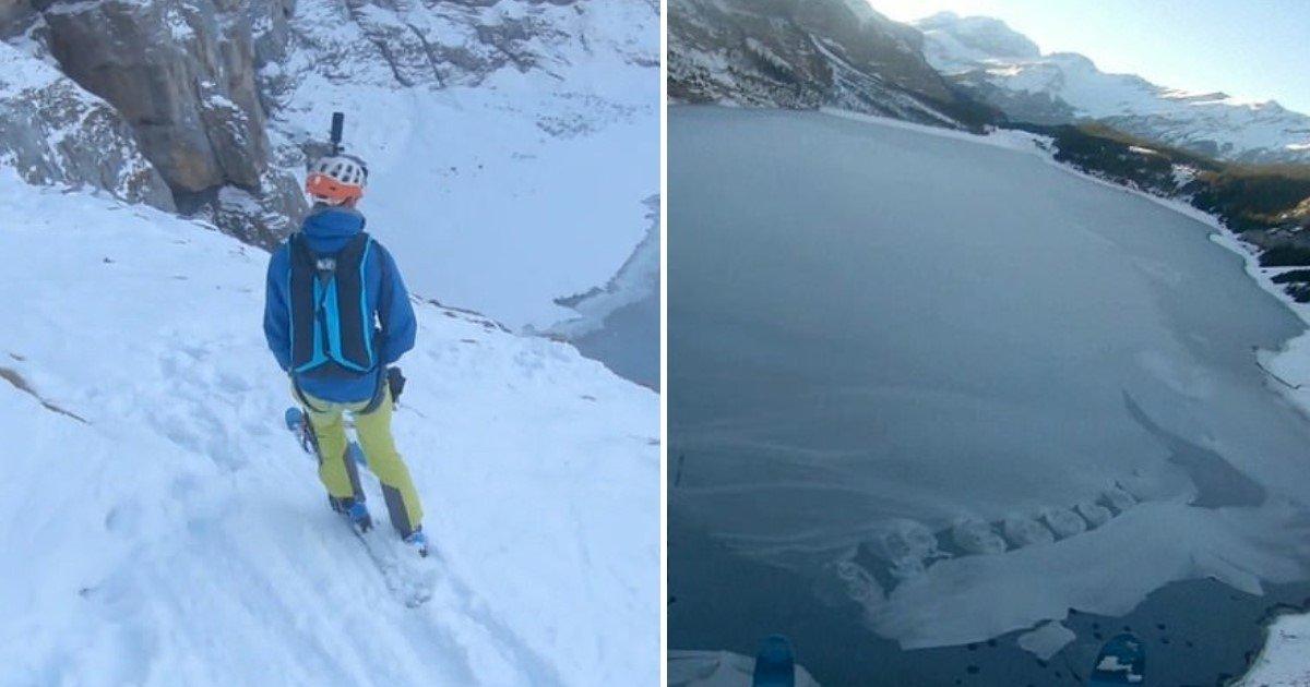 3 85.jpg?resize=1200,630 - Thrill-Seeker Jumped From 5,177 Feet On To A Frozen Lake In Switzerland