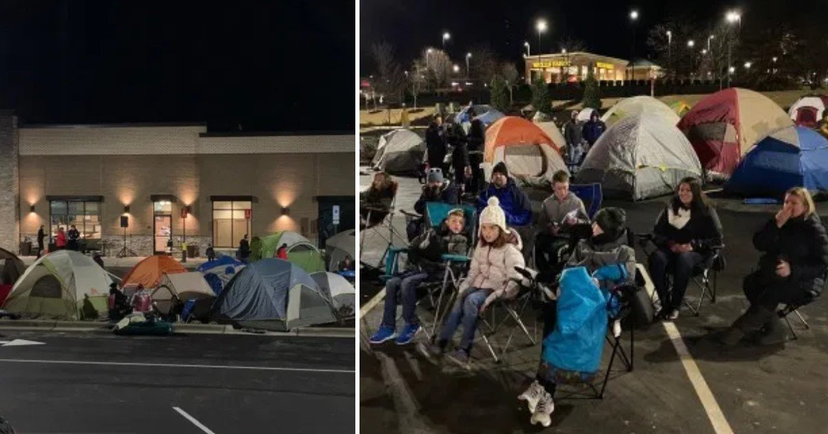 4 34.jpg?resize=1200,630 - People Camped Outside Chick-Fil-A To Become One Of The 100 Customers Who Receive Free Food For A Whole Year