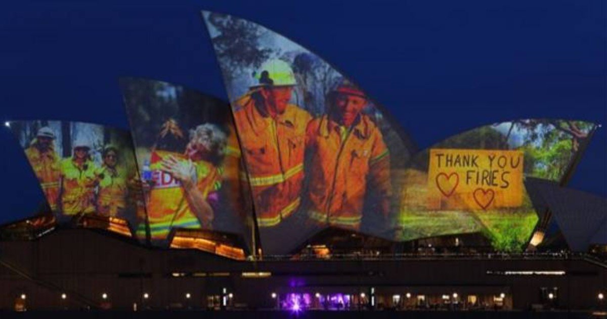 4 48.jpg?resize=1200,630 - Sydney Opera House Lighted Up Sails To Support And Pay Tribute To Firefighters And Volunteers
