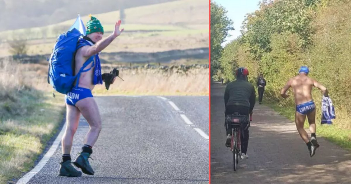 4 57.png?resize=1200,630 - A Man Decided to Walk 1,000 Miles Just Wearing a Pair of Speedos to Raise Money For Charity