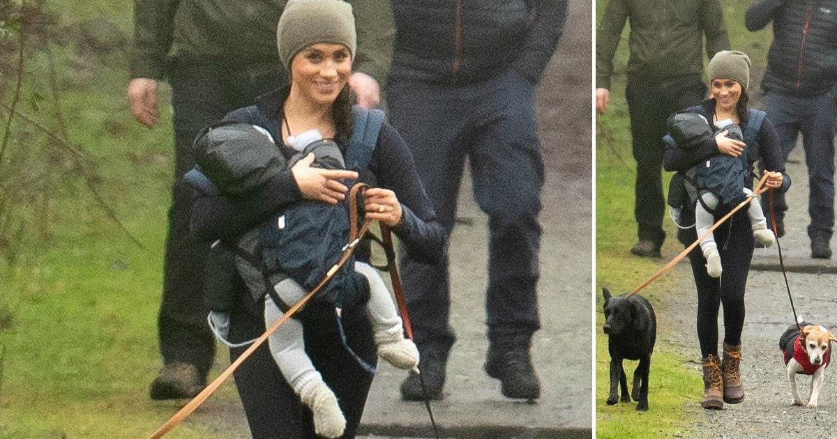 4 98.jpg?resize=1200,630 - Smiling Meghan Markle Spotted As She Took Her Dogs On A Walk Along With Archie