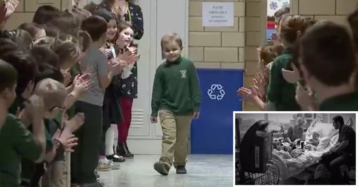 6 33.png?resize=1200,630 - The Small Boy Wraps Chemotherapy With A Cute Celebration From The Classmates And Becomes Cancer-Free