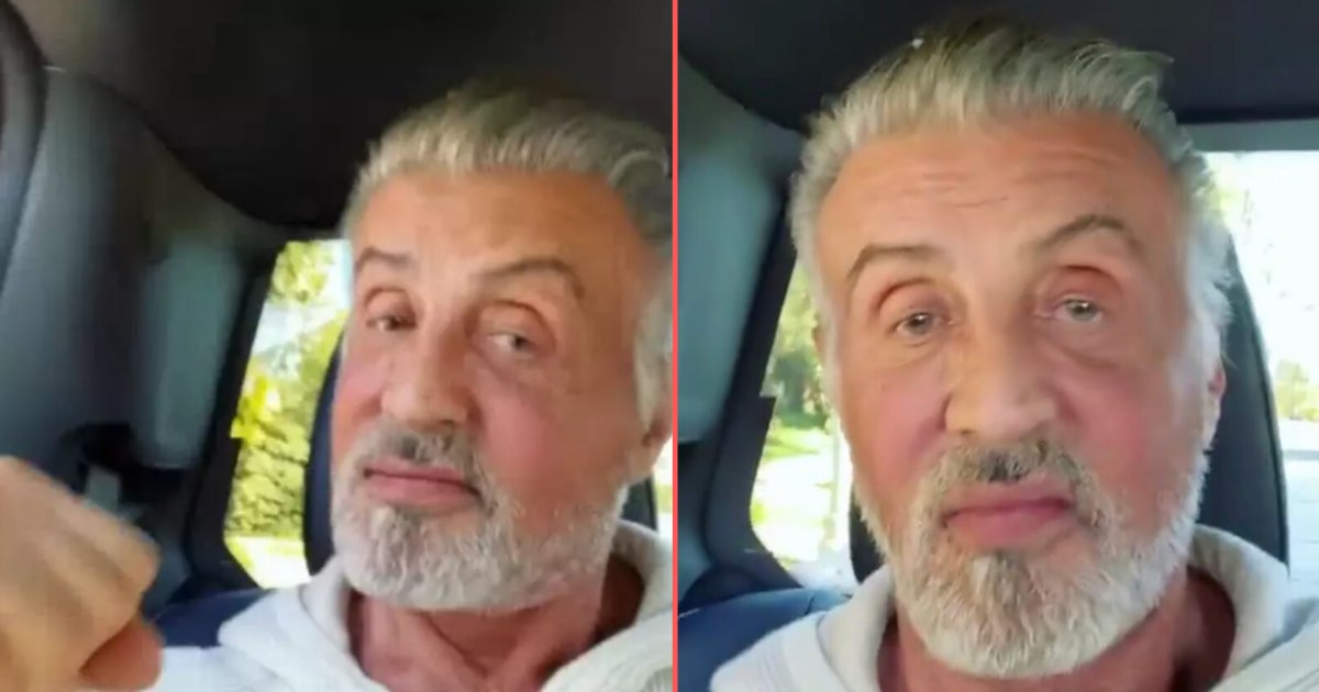 6 64.png?resize=1200,630 - Sylvester Stallone Showcased His Head of Fully Silver Hair