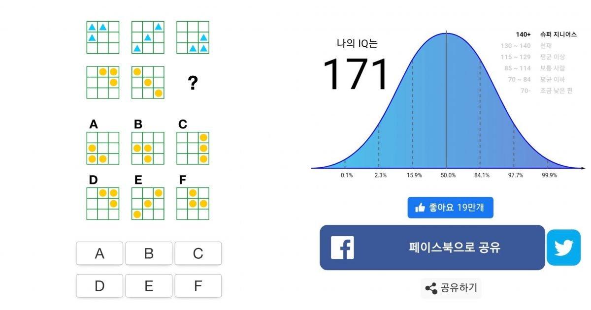 """956f66c2 69e9 4f6a b8f3 f94f47c5d43b e1579849948681.jpg?resize=300,169 - """"내 아이큐는?""""…간단한 18개의 문제로 아이큐 알려주는 '아이큐테스트' 화제"""