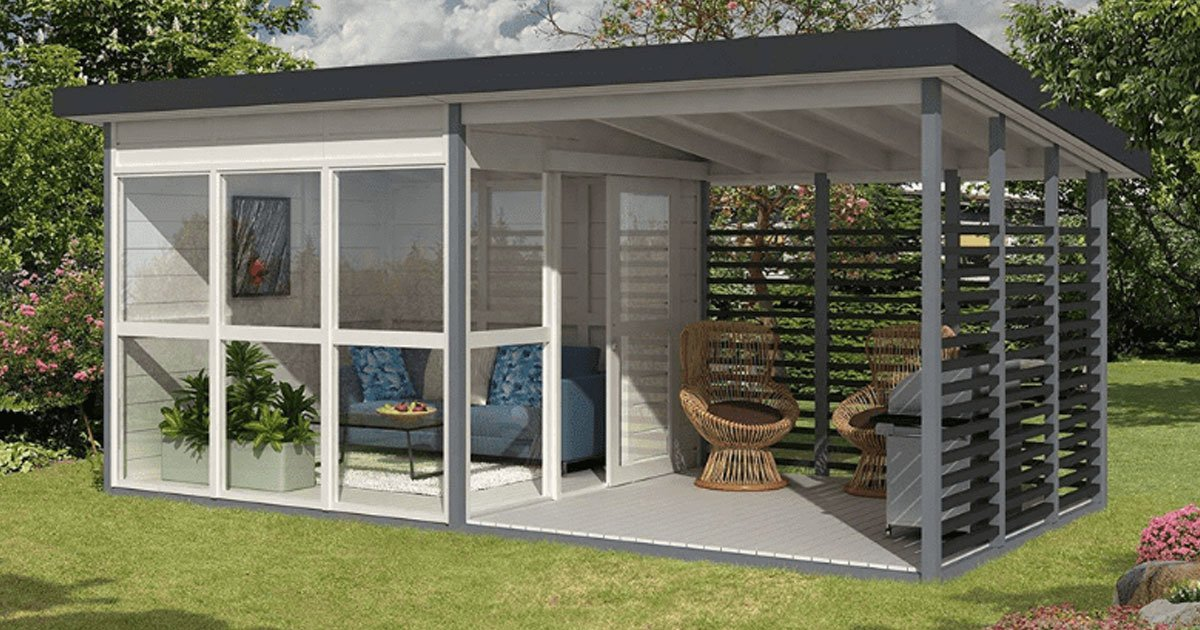 amazon diy backyard house.jpg?resize=1200,630 - Make Your Own Backyard Guest House In Just 8 Hours Using This Amazon Kit